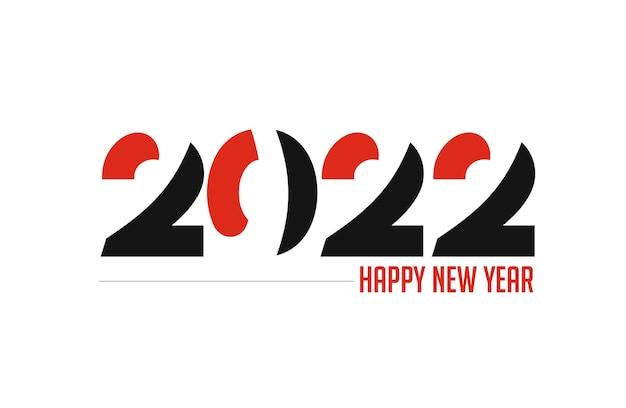 С новым годом 2022 текст типография дизайн векторные иллюстрации