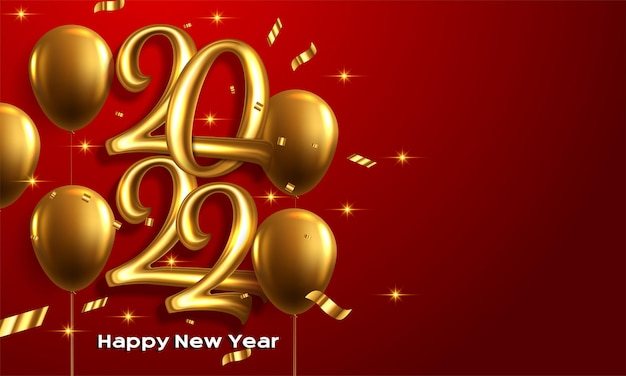 Happy new year 2022 winter holiday greeting card design template