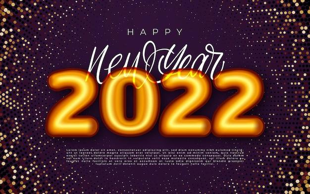 明けましておめでとうございます2022年冬休みグリーティングカードデザインテンプレート