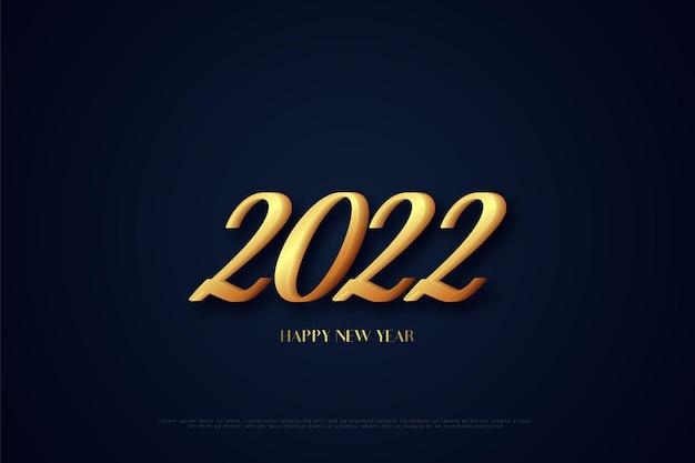 新年あけましておめでとうございます2022年の色の組み合わせ番号