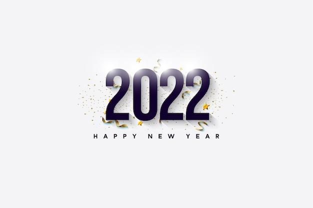 빛나는 숫자로 새해 복 많이 받으세요 2022