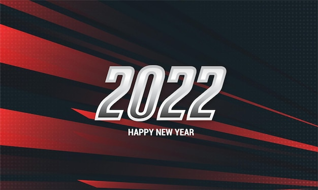 Happy new year 2022 with sport desing style