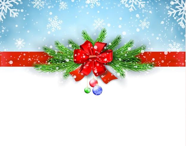 明けましておめでとうとメリークリスマスのグリーティングカード