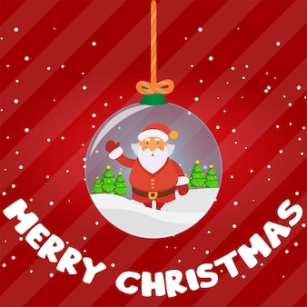 С новым годом и рождеством санта клаус олень поздравительная открытка рождественская елка подарок красочный