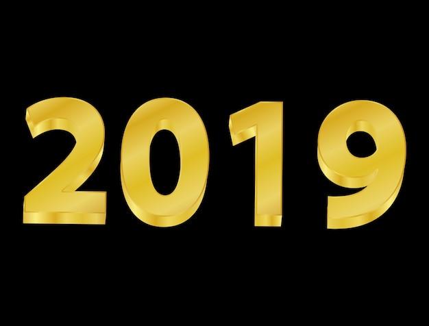 Happy new year background 2019