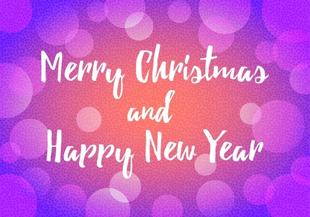 С новым годом фоновое украшение с боке и маленькие круги в винтажном цветном стиле. векторный фон