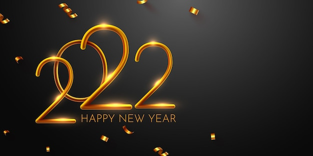 Happy new year background design greeting card banner poster