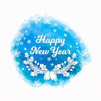 С новым годом фон в акварели
