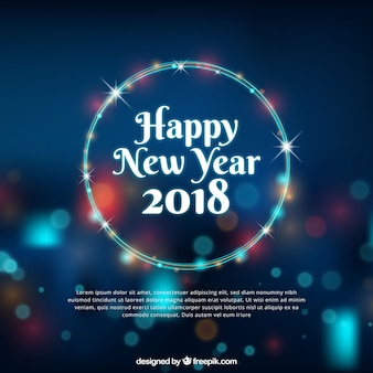 Happy new year background with bokeh effect