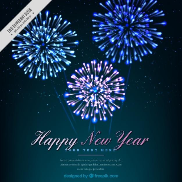 밝은 불꽃 놀이 함께 새 해 복 많이 받으세요 배경
