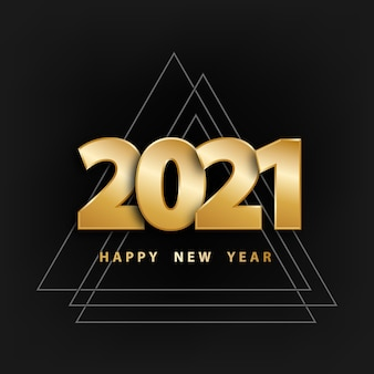Happy new year background with golden numbers