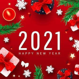 Happy new year background with numbers date
