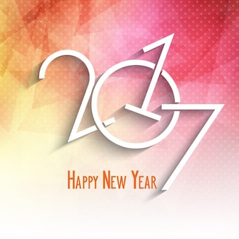 Happy new year background with a poligonal design