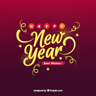 Happy new year background Free Vector