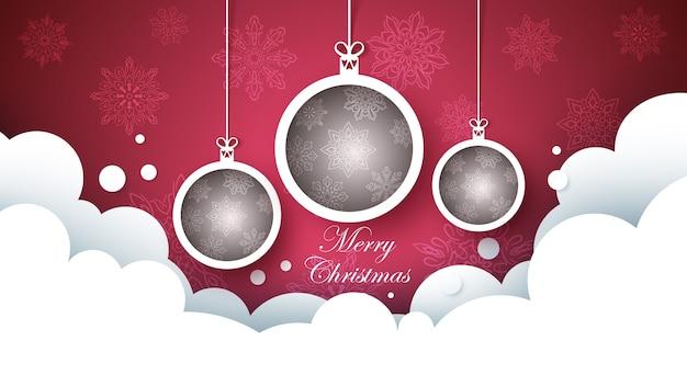 Happy new year ball. merry christmass.