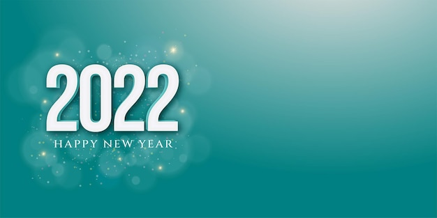Happy new year banner in 3d style with text space