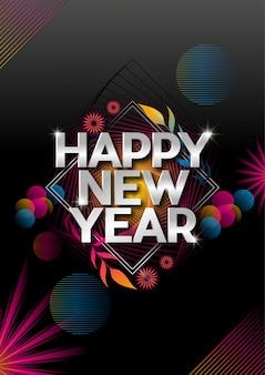 Happy new year beautiful flyer