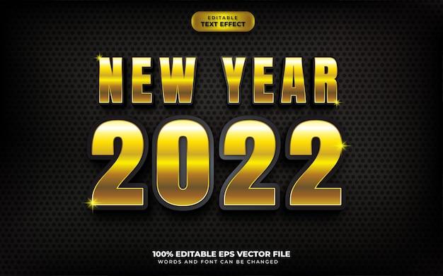 새해 복 많이 받으세요 블랙 골드 3d 편집 가능한 텍스트 효과