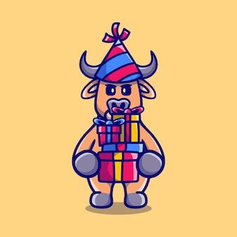 С новым годом буйвол приносит кучу подарков