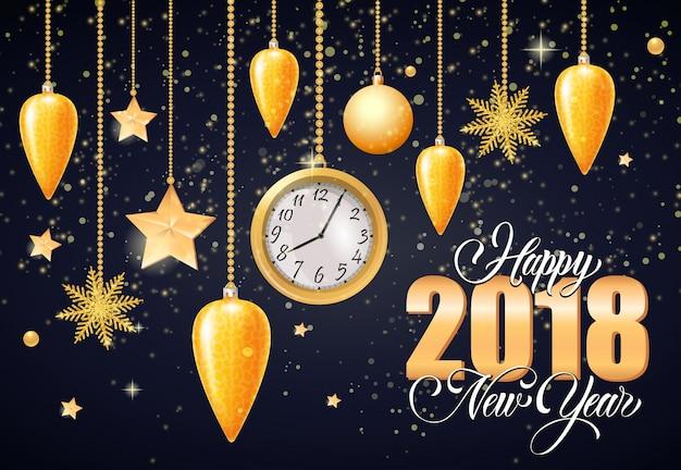 Happy new year calligraphic inscription