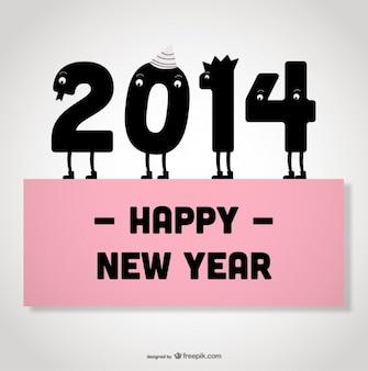 새해 복 많이 받으세요 카드 디자인 귀여운 숫자