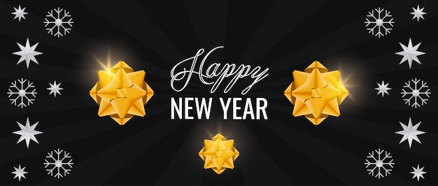 Happy new year card with stars pattern