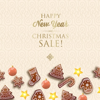 Felice anno nuovo e cartolina di natale