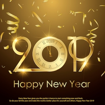 Happy new year or christmas greeting card