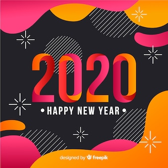 Happy new year concept in flat design