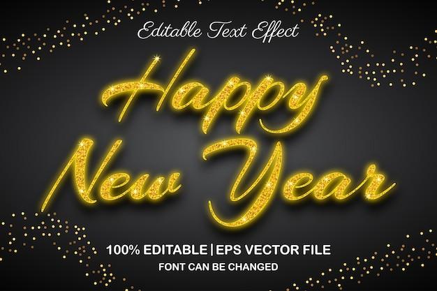 새해 복 많이 받으세요 편집 가능한 텍스트 효과 3d 스타일