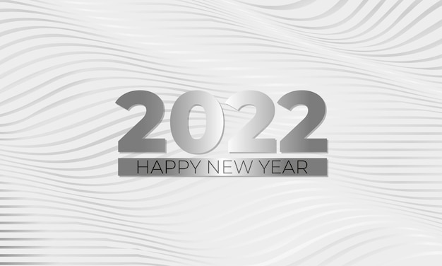 Happy new  year elegant white and silver luxury background