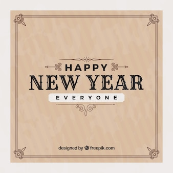 Happy new year everyone vintage background