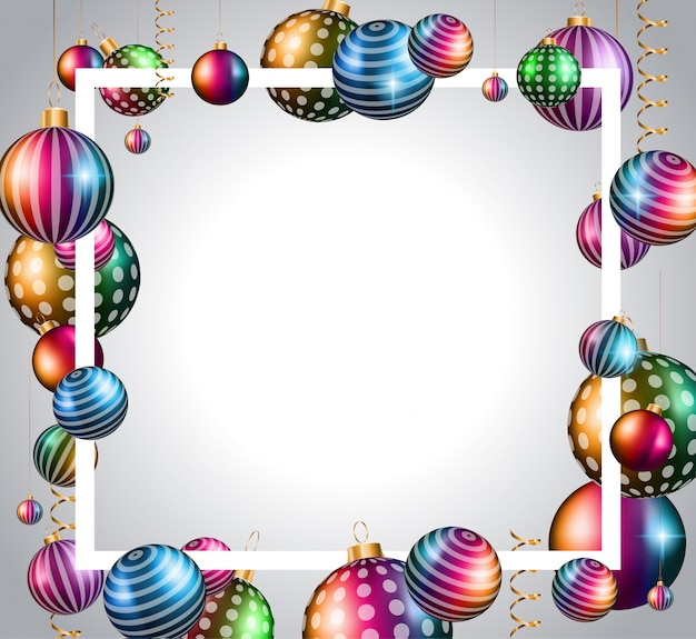 Happy new year frame background