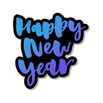 Happy new year in gradient lettering