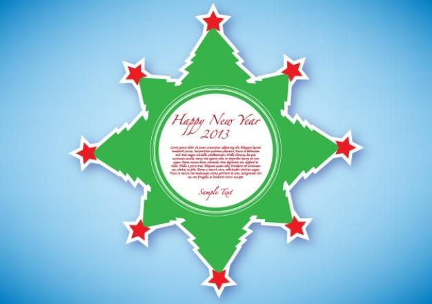 Happy new year  green sticker free vector