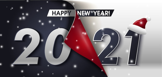 Happy new year greeting banner happy new year