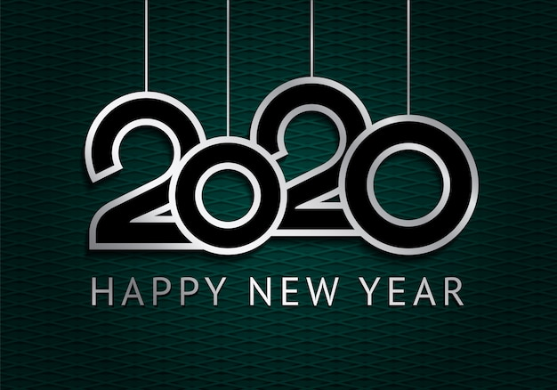 Happy new year greeting card 2020