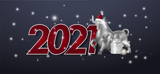 Открытка с новым годом в бумажном стиле для ваших сезонных праздничных листовок