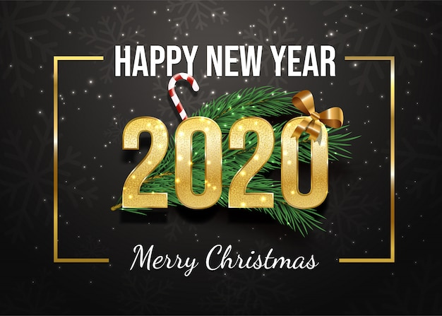 Happy new year greeting card template.