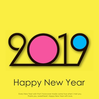 Happy New Year greeting card. Vector.