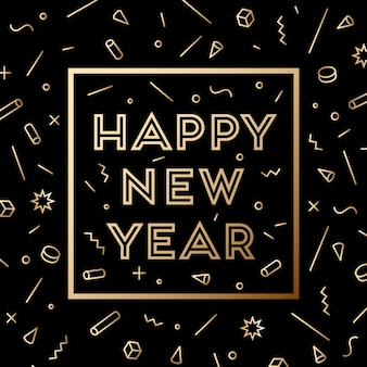 Happy new year. greeting card with inscription happy new year 2019. fashion style for happy new year or merry christmas theme