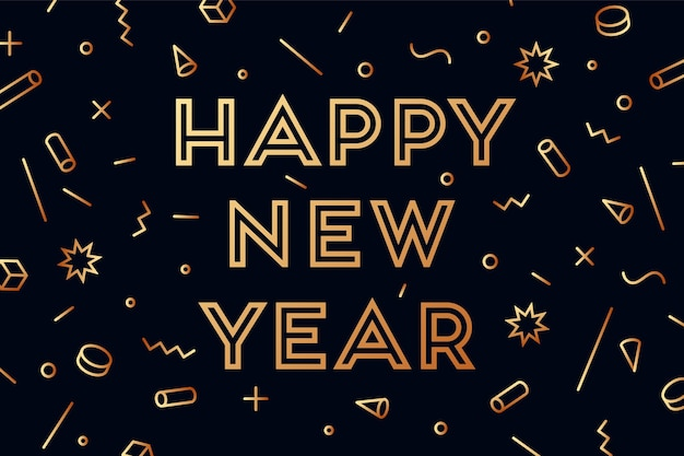 Happy new year. greeting card with inscription happy new year.