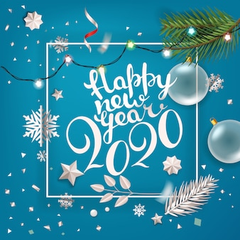 Happy new year greeting card,