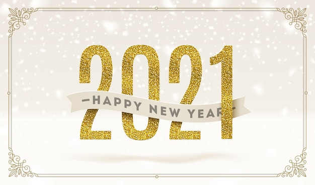 Happy new year  - holidays  illustration.