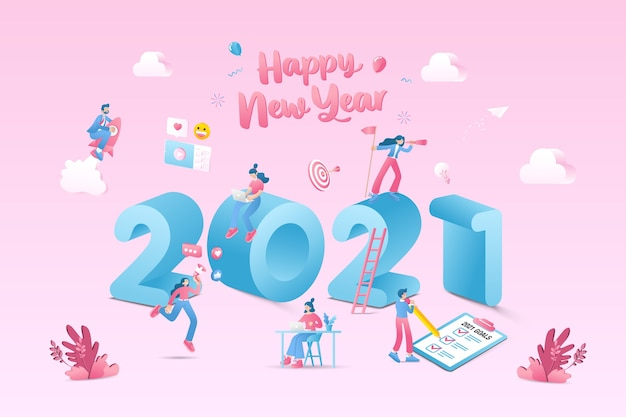 Happy new year illustration