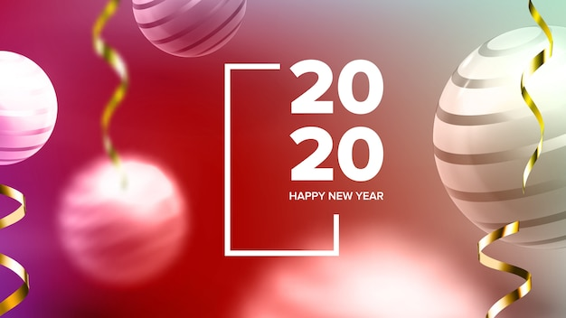Happy new year invite banner