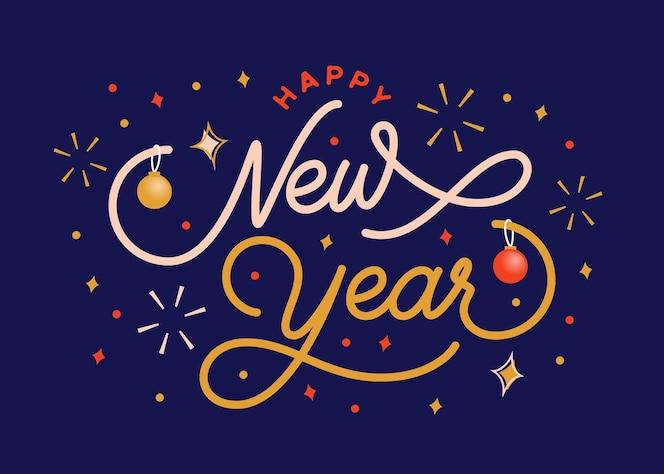 с новым годом надписи фон с темой вечеринки