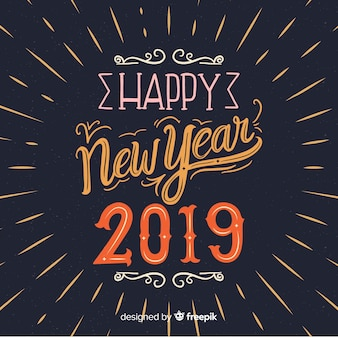 Happy new year lettering background
