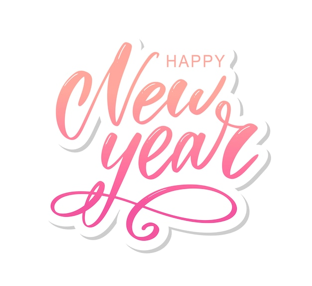 Happy new year, lettering composition