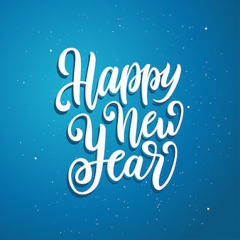 Happy new year lettering template. greeting card or invitation